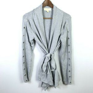 Michael Kors Womens Belted Cardigan Sweater Size M